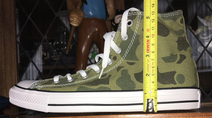 Converse thickness