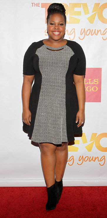 How tall is Amber Riley